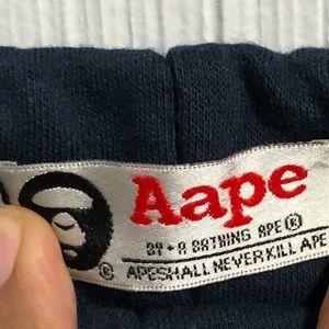 Aape by Bathing Ape Fleece Sweat Shorts sz L